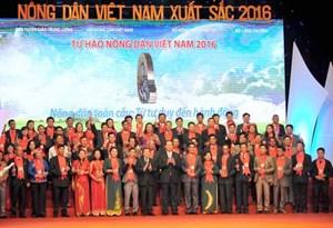Vinh danh 63 nông dân Việt Nam xuất sắc năm 2016