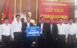 Tỉnh Thanh Hóa ủng hộ 1 tỷ đồng cho đồng bào bị lũ ở Quảng Nam