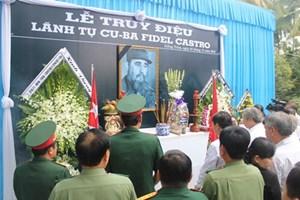 Tổ chức lễ truy điệu lãnh tụ Cuba Fidel Castro