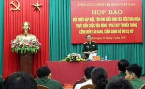 Tôn vinh 127 cá nhân điển hình tiên tiến tiêu biểu trong toàn quân