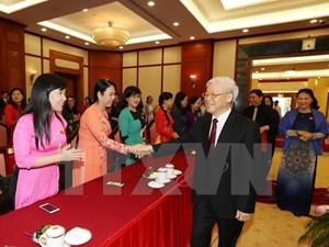 Tổng Bí thư gặp mặt Nhóm nữ đại biểu Quốc hội khóa XIV