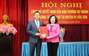 Tổng Giám đốc Tổng Công ty Du lịch Hà Nội làm Phó Bí thư Sóc Sơn
