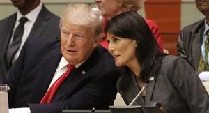 Tổng thống Trump chấp nhận đơn từ chức của Đại sứ LHQ Nikki Haley