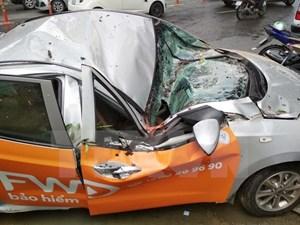 TP HCM: Cây xanh bật gốc đè bẹp xe 4 chỗ, 1 người bị thương