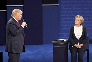 Tranh luận quyết liệt giữa hai ứng viên tổng thống Mỹ