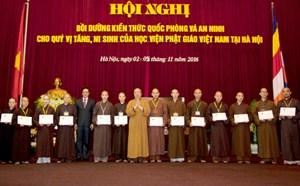 549 tăng, ni sinh hoàn thành chương trình bồi dưỡng kiến thức QP, AN