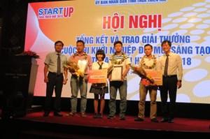 Trao giải 'Khởi nghiệp đổi mới sáng tạo' tỉnh Thừa Thiên - Huế 2018