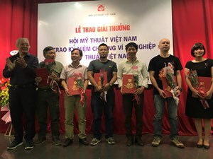 Trao giải  thưởng Mỹ thuật Việt Nam năm 2018