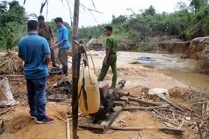 Triệt phá mỏ vàng trái phép tại Lâm Đồng