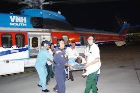 Trực thăng ra Trường Sa cấp cứu bệnh nhân