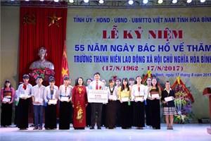 Trường PT Dân tộc nội trú tỉnh Hòa Bình kỷ niệm 55 năm ngày Bác Hồ về thăm