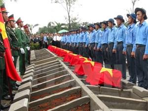 Truy điệu 106 hài cốt liệt sỹ, quân tình nguyện hy sinh ở Campuchia
