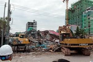 Vụ sập nhà 7 tầng tại Campuchia: Ít nhất 7 người đã thiệt mạng