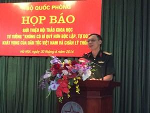 Tư tưởng 'Không có gì quý hơn độc lập tự do' khát vọng của dân tộc Việt Nam và chân lý thời đại