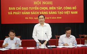 Tuyển chọn 71 công trình tiêu biểu vào Sách vàng  'Sáng tạo Việt Nam 2016'