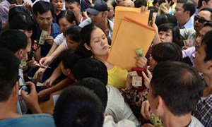 Tuyển sinh đầu cấp tại Hà Nội: Căng thẳng đến phút chót