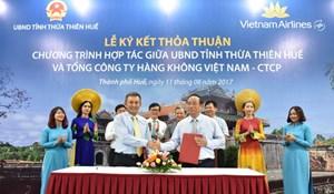 UBND Thừa Thiên-Huế - Vietnam Airlines: Hợp tác quảng bá du lịch, xúc tiến đầu tư