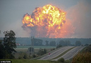 Ukraine điều tra vụ nổ kho đạn