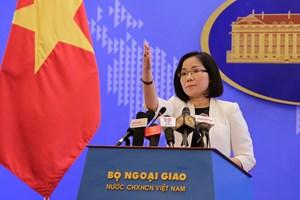 Việt Nam kiên quyết phản đối hành động của Trung Quốc tại đá Bông Bay