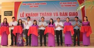 Vietnam Airlines xây trường cho con em đồng bào vùng cao huyện Minh Hóa (Quảng Bình)