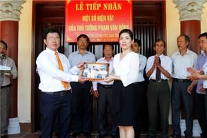VPCP bàn giao hiện vật của cố Thủ tướng Phạm Văn Đồng cho tỉnh Quảng Ngãi
