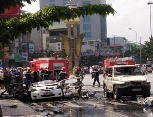 Vụ nổ taxi ở Quảng Ninh: Do một đối tượng nghiện ma túy tự sát bằng mìn