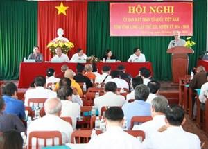 Vĩnh Long: Đại hội MTTQ huyện Vũng Liêm lần thứ X