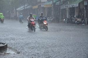 Xuất hiện mưa lớn trên diện rộng
