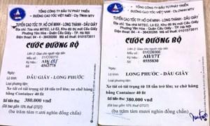 Xuất hiện vé giảđường bộ cao tốc TP HCM - Long Thành - Dầu Giây