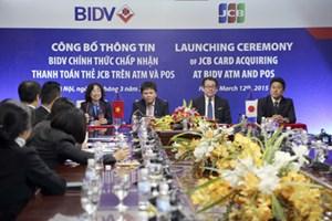 BIDV chính thức chấp nhận thanh toán thẻ JCB trên ATM&POS