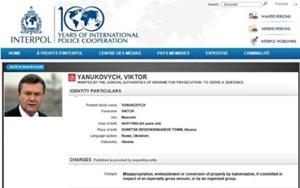 Interpol bỏ lệnh truy nã cựu Tổng thống Ukraine Yanukovych