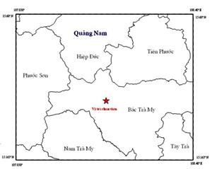 Quảng Nam: Nửa tháng xảy ra hai trận động đất tại Bắc Trà My