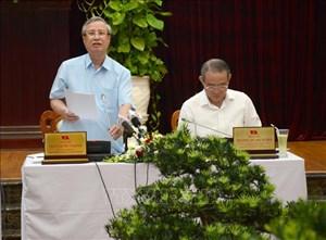 Thường trực Ban Bí thư Trần Quốc Vượng làm việc với Thành ủy Đà Nẵng