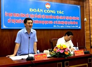 BẢN TIN MẶT TRẬN: Mặt trận Trung ương kiểm tra việc thực hiện chính sách hỗ trợ người dân