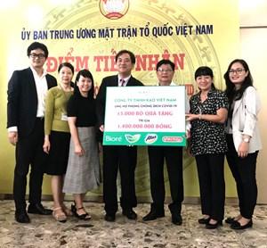 TP Hồ Chí Minh: Tiếp nhận sản phẩm trị giá 1,4 tỷ đồng ủng hộ phòng, chống dịch Covid-19