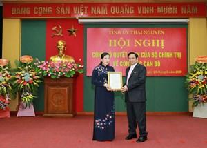 Trưởng ban Dân nguyện Nguyễn Thanh Hải làm Bí thư Tỉnh ủy Thái Nguyên
