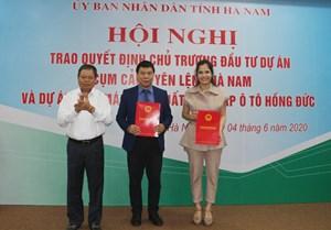 Hà Nam: Trao quyết định đầu tư 2 dự án gần 5 nghìn tỷ đồng