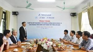 Hà Nam: Tiếp nhận quà tặng thiết bị xét nghiệm phòng, chống dịch Covid-19 trị giá 80.000 euro