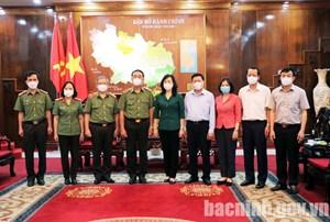 Thứ trưởng Bộ Công an kiểm tra công tác chuẩn bị bầu cử ở Bắc Ninh