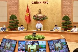 Thủ tướng họp trực tuyến với lãnh đạo 1.060 xã, phường, thị trấn về phòng, chống dịch