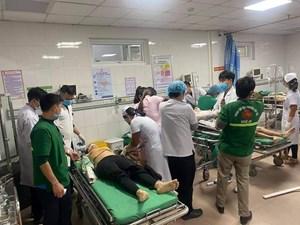 Nghệ An: Thang máy công trình Sở Tài chính bị đứt, nhiều công nhân bị thương