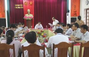 Ông Ngô Sách Thực kiểm tra công tác bầu cử tại Nghệ An
