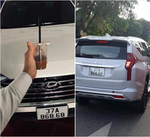 Xuất hiện 2 xế hộp cùng biển số 'song lộc phát' tại Nghệ An
