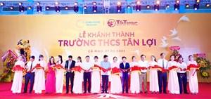 Tập đoàn T&T Group tài trợ xây dựng trường học tại Cà Mau
