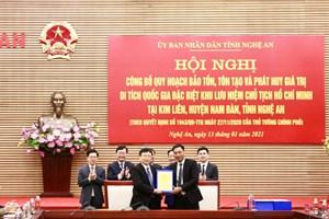 Công bố Quy hoạch bảo tồn, tôn tạo và phát huy giá trị Khu lưu niệm Chủ tịch Hồ Chí Minh tại Nghệ An