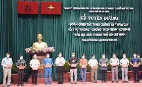 TP Hồ Chí Minh: Tuyên dương cá nhân, tập thể trong phòng, chống dịch Covid-19