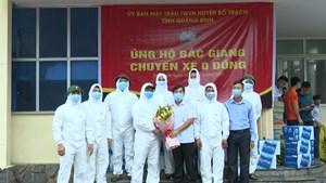 Những chuyến xe 0 đồng ủng hộ Bắc Giang phòng, chống dịch