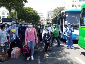 Quảng Bình đưa 200 công dân từ Đà Nẵng trở về địa phương
