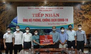 Tập đoàn DIC ủng hộ Quỹ phòng, chống dịch Covid-19 tỉnh Quảng Bình 1,2 tỷ đồng