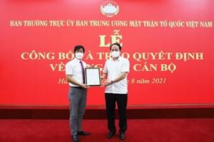 Ông Nguyễn Văn Hanh là Phó Chánh Văn phòng UBTƯ MTTQ Việt Nam